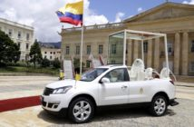 Papamóvil Chevrolet Traverse en Colombia