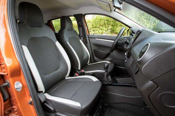 Interior del Renault Kwid