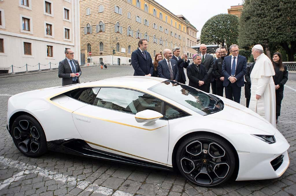 Lamborghini Huracán para el papa Francisco