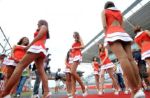 Grid girls en GP de Corea del Sur