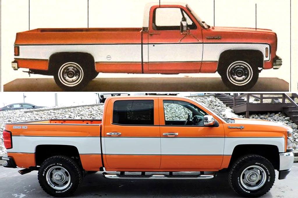 Chevrolet Cheyenne 1974 versus 2018