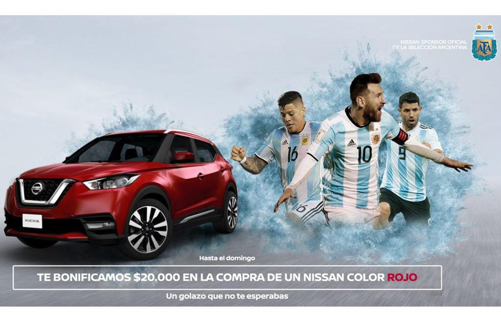 Nissan celebra el triunfo de la Selección con una bonificación en Rojo
