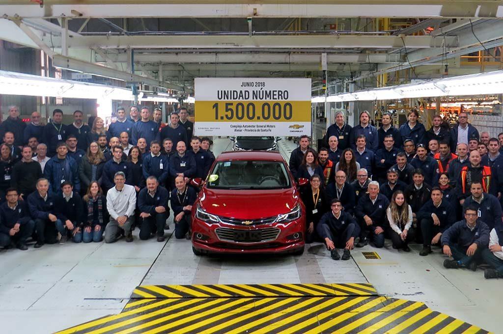 GM ya fabricó 1.500.000 vehículos en su Complejo Automotor de Rosario