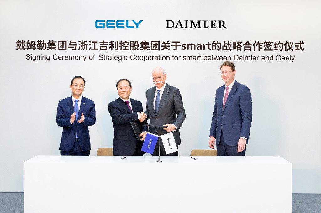 Geely - Daimler acuerdo en China