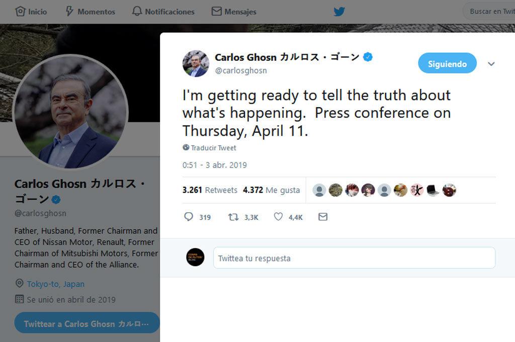 Ghosn en Twitter