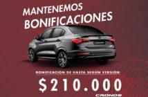 Fiat Cronos bonificación