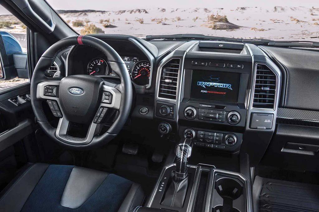 Interior de la Ford F-150 Raptor