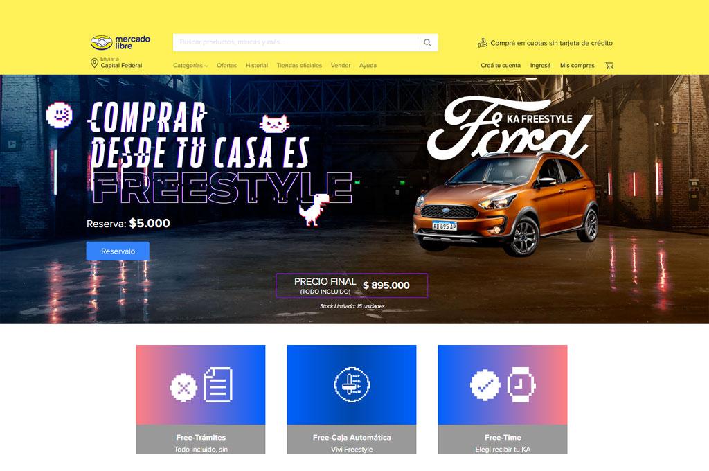 El Ford Ka se puede comprar por Mercado Libre