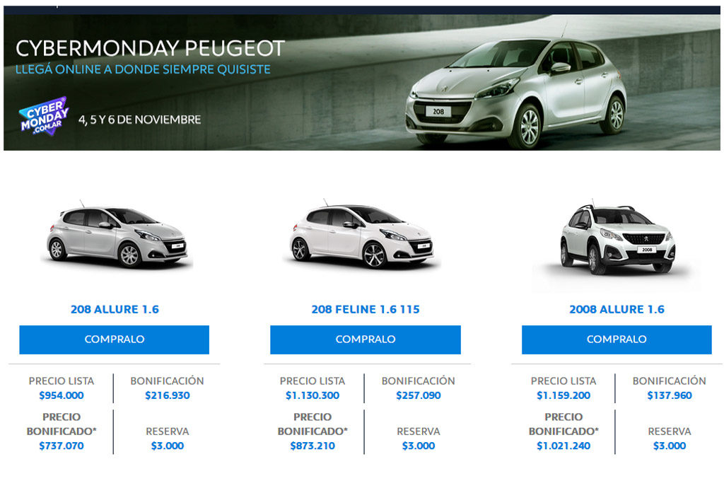 Cyber Monday - Peugeot