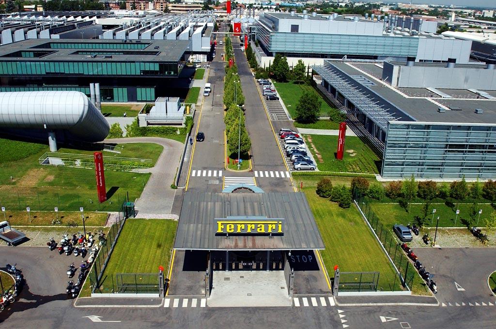 Planta de Ferrari en Maranello