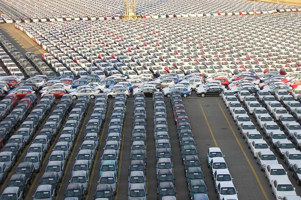 Patio de autos en EE.UU.