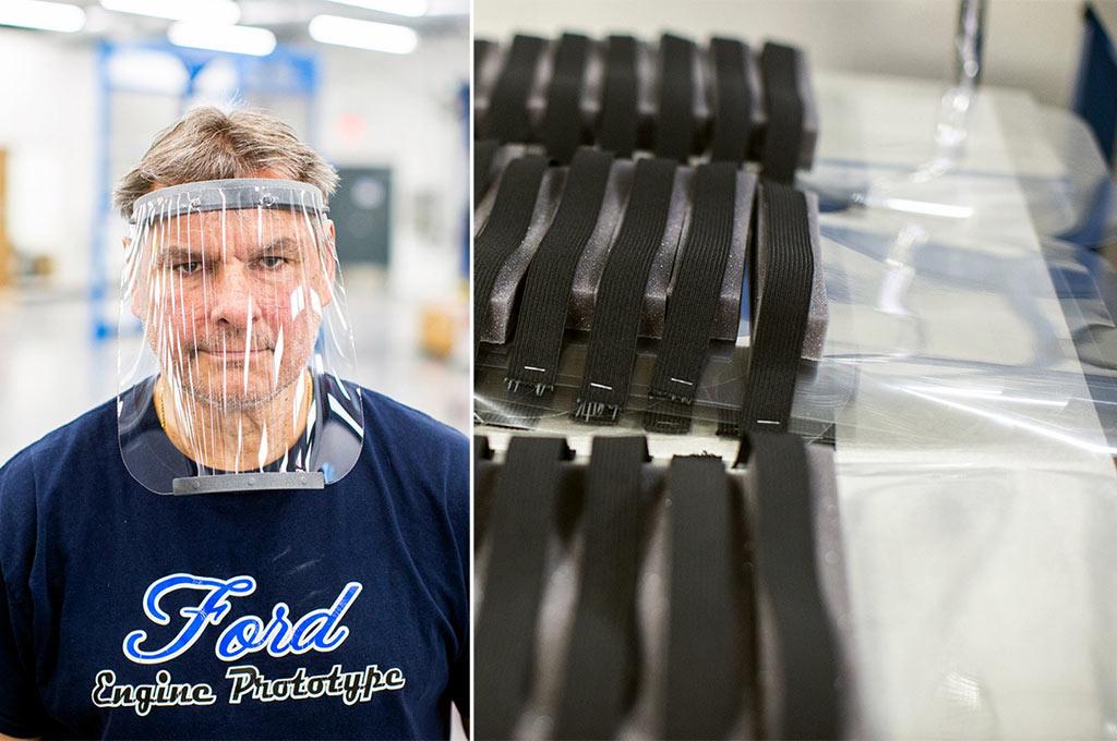 Ford producirá protectores faciales