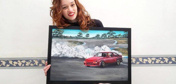 Florencia Proletti, la artista uruguaya que se resistía a pintar autos y hoy son el centro de su obra