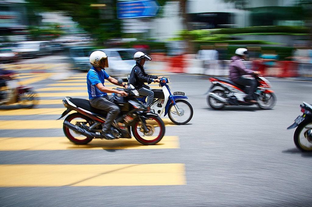 Motos en el tránsito