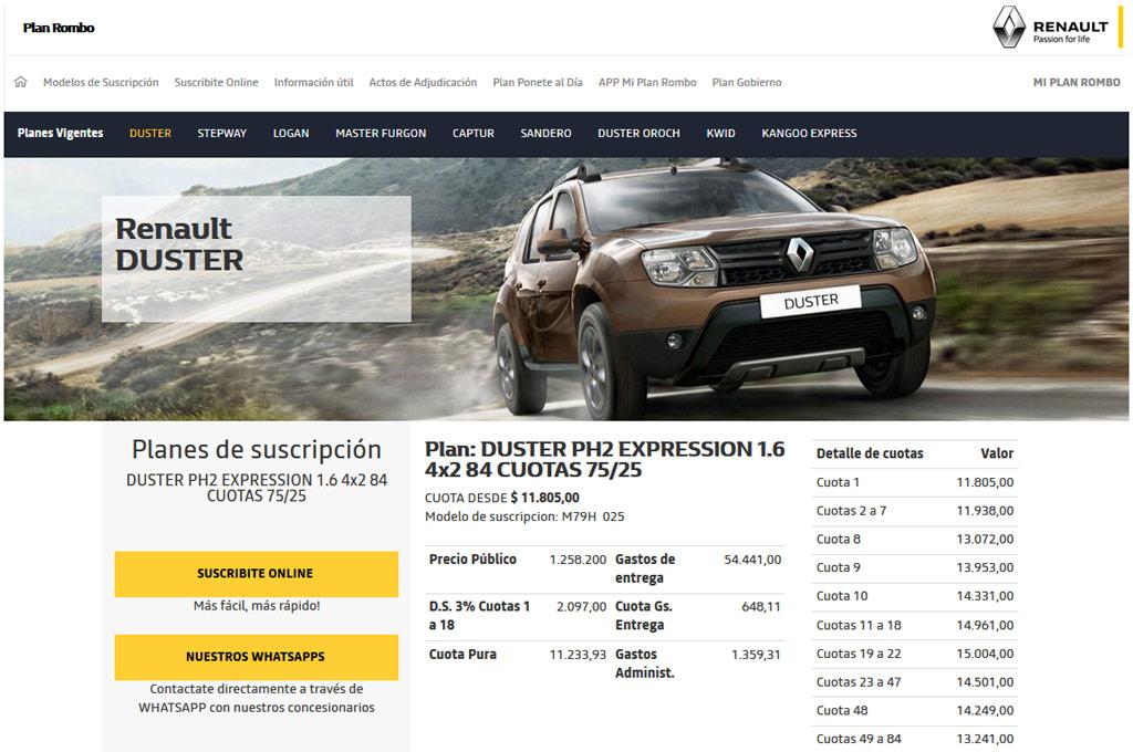 Renault Duster - Plan Rombo