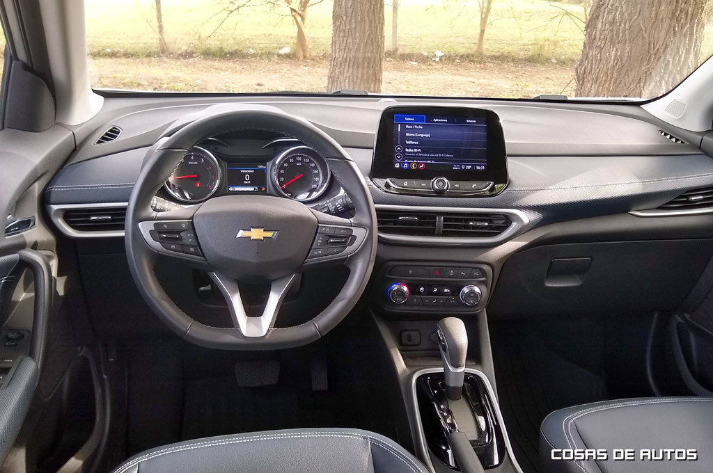 Interior de la Chevrolet Tracker